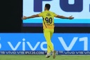 Deepak Chahar goes on a celebratory run after dismissing Rohit Sharma, Mumbai Indians v Chennai Super Kings, IPL 2019 final, Hyderabad, May 12, 2019