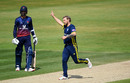 Gareth Berg celebrates the wicket of Josh Bohannon on his way to a five-for, Nottinghamshire v Somerset, Royal London One Day Cup semi-final, Trent Bridge, May 12, 2019