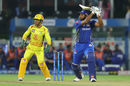 Kieron Pollard lofts one through extra cover, Chennai Super Kings v Mumbai Indians, IPL Final 2019, Hyderabad, May 12, 2019