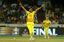 Deepak Chahar celebrates the wicket of Hardik Pandya, Chennai Super Kings v Mumbai Indians, IPL Final, Hyderabad, May 12, 2019