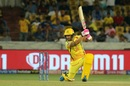 Faf du Plessis hits one through the off side, Chennai Super Kings v Mumbai Indians, IPL Final, Hyderabad, May 12, 2019