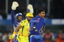 Rahul Chahar appeals for Suresh Raina's wicket, Mumbai Indians v Chennai Super Kings, IPL 2019 final, Hyderabad, May 12, 2019