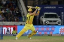 Shane Watson flays a shot through the off side, Mumbai Indians v Chennai Super Kings, IPL 2019 final, Hyderabad, May 12, 2019