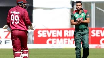 Mashrafe Mortaza celebrates a wicket