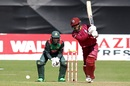 Shai Hope drives, Bangladesh v West Indies, Ireland tri-series, Dublin, May 13, 2019