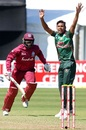 Mustafizur Rahman appeals for a wicket, Bangladesh v West Indies, Ireland tri-series, Dublin, May 13, 2019