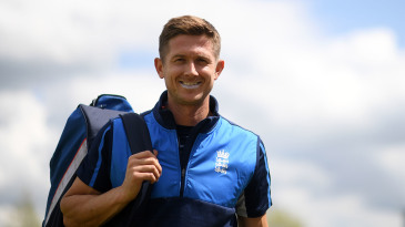 Joe Denly of England during a net session