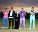 GS Lakshmi with captains Mithali Raj and Harmanpreet Kaur ahead of the final, Supernovas v Velocity, Women's T20 challenge final