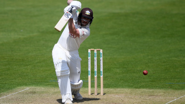Mark Stoneman drives on his way to a fifty