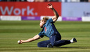 David Willey races across to take a catch off his own bowling, England v Pakistan, 3rd ODI, Bristol, May 14, 2019