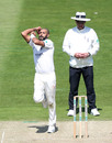 Jeetan Patel bowls, Warwickshire v Hampshire, County Championship Division One, Edgbaston, May 14, 2019