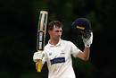 Nick Selman celebrates after scoring a century, Glamorgan v Gloucestershire, County Championship Division Two, Spytty Park, May 16, 2019
