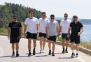 Members of the Australia World Cup squad take a walk during their trip to Gallipoli, Gallipoli, May 16, 2019,