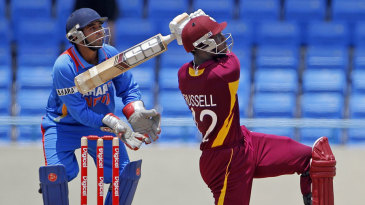 Against India in Antigua in 2011, Andre Russell took West Indies from 96 for 7 to 225, smashing an unbeaten 62-ball 92