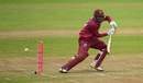 Sunil Ambris steers one down to third man, West Indies v Bangladesh, tri-nation series final, Malahide, May 17, 2019