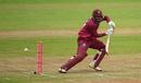 Sunil Ambris steers one down to third man, West Indies v Bangladesh, tri-nation series final, Malahide, May 17, 2019