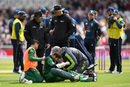 Imam-ul-Haq grimaces in pain as he receives treatment, England v Pakistan, 4th ODI, Trent Bridge, May 17, 2019