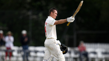Marnus Labuschagne raises his bat