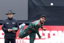 Mehidy Hasan Miraz gives it a rip, West Indies v Bangladesh, tri-nation series final, Malahide, May 17, 2019