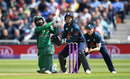 Mohammad Hafeez sweeps over the leg side, England v Pakistan, 4th ODI, Trent Bridge, May 17, 2019