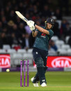 Ben Stokes pulls through the leg side, England v Pakistan, 4th ODI, Trent Bridge, May 17, 2019