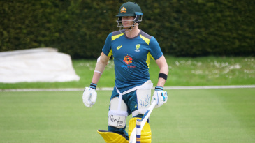 Steven Smith bats during Australia training