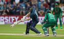 Eoin Morgan drops back to cut, England v Pakistan, 5th ODI, Headingley, May 19, 2019