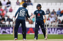 Joe Root and Eoin Morgan put on a century stand, England v Pakistan, 5th ODI, Headingley, May 19, 2019
