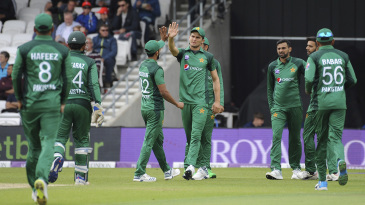 Shaheen Afridi took the catch to dismiss Jonny Bairstow