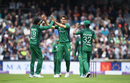 Shaheen Afridi celebrates with a couple of high fives, England v Pakistan, 5th ODI, Headingley, May 19, 2019