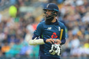 Moeen Ali walks back to the pavilion after losing his wicket without scoring, England v Pakistan, 5th ODI, Headingley, May 19, 2019