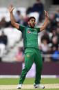 Hassan Ali celebrates taking the wicket of Ben Stokes, England v Pakistan, 5th ODI, Headingley, May 19, 2019