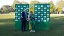 Iram Javed receives the Player-of-the-Match award, South Africa v Pakistan, 3rd women's T20I, Pietermaritzburg