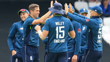 Chris Woakes claimed three wickets in his opening spell