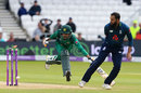 Babar Azam was brilliantly run out by Adil Rashid, England v Pakistan, 5th ODI, Headingley, May 19, 2019