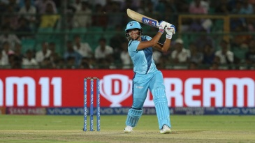 Harmanpreet on her way to a match-winning 37-ball 51 in the Women's T20 Challenge final
