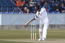 Chris Jordan bats, Durham v Sussex, County Championship Division Two, Chester le Street, April 12, 2019