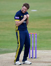 Liam Dawson celebrates another wicket for Hampshire, May 12, 2019