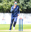 Tom Sole celebrates after taking his first wicket of the day, Scotland v Sri Lanka, 2nd ODI, Edinburgh, May 21, 2019