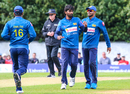 Nuwan Pradeep celebrates after taking his second wicket of the day, Scotland v Sri Lanka, 2nd ODI, Edinburgh, May 21, 2019
