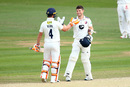 Sean Dickson is congratulated on his hundred, Kent v Surrey, County Championship Division One, Beckenham, May 21, 2019