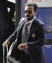 Kedar Jadhav makes his way to the team hotel in London, World Cup 2019, London, May 22, 2019