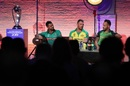 The World Cup, Mashrafe Mortaza, Aaron Finch and Faf du Plessis on display, London, May 23, 2019