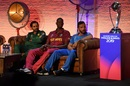 Sarfaraz Ahmed, Jason Holder and Gulbadin Naib and the prize they'll be fighting for, London, May 23, 2019