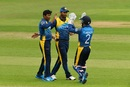 Jeevan Mendis strikes against the run of play, South Africa v Sri Lanka, World Cup 2019 warm-up, Cardiff, May 24, 2019