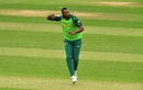 Andile Phehlukwayo celebrates a wicket, South Africa v Sri Lanka, warm-up match, World Cup 2019, Cardiff, May 24, 2019