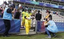 David Warner and Aaron Finch walk out to bat, England v Australia, World Cup 2019 warm-up, Southampton, May 25, 2019