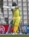 Aaron Finch shapes up to pull, England v Australia, World Cup 2019 warm-up, Southampton, May 25, 2019