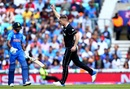 James Neesham celebrates a wicket, India vs New Zealand, World Cup 2019, warm-up, The Oval, May 25, 2019