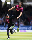 Jamie Overton roars in celebration, Somerset v Hampshire, Royal London Cup final, Lord's, May 25, 2019